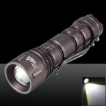 Ultrafire 3-Mode del CREE XPE-Q5 Zoomable de la mini LED linterna Negro