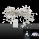 10M 2V 100-LED 8 Working Modes White Light Matte Ball-shaped LED String Light US Plug>