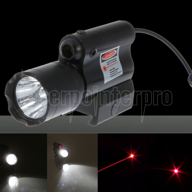 10mw Led Flashlight And Beam Light Red Laser Scope Group