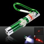 2 em 1 5mW 650nm Red Laser Pointer Pen Green (Red Lasers + lanterna LED)>