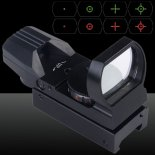 U`King ZQ-MZ01 Aluminio Red &amp; Green Dot Reflex Laser Sight Set para Caza Negro>