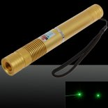 200mW 532nm Focus Green Beam Light Laser Pointer Pen with 18650 Rechargeable Battery Yellow>