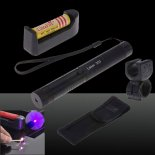 SHARP EAGLE 500mW 405nm Purple Light Starry Sky Style Laser Pointer with Bracket & Case Black