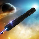 2000MW 473nm Beam Blue Laser Pointer Black (2*1200mAh)