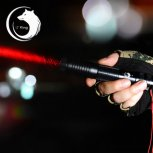 U`King ZQ-012A 638nm 500mW One Mode Waterproof Crude Linear Spot Style Red Light Aluminum Alloy Laser Pointer Kit Black