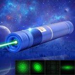 1000mW 532nm grüne Lichtstrahl Licht Fokussierung tragbare Laser-Zeiger-Feder-Blau