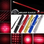 SHARP EAGLE ZQ-HO 200mW 650nm 5-em-1 Diverse Pattern Red feixe de luz multifuncional Laser Espada Kit Preto>
