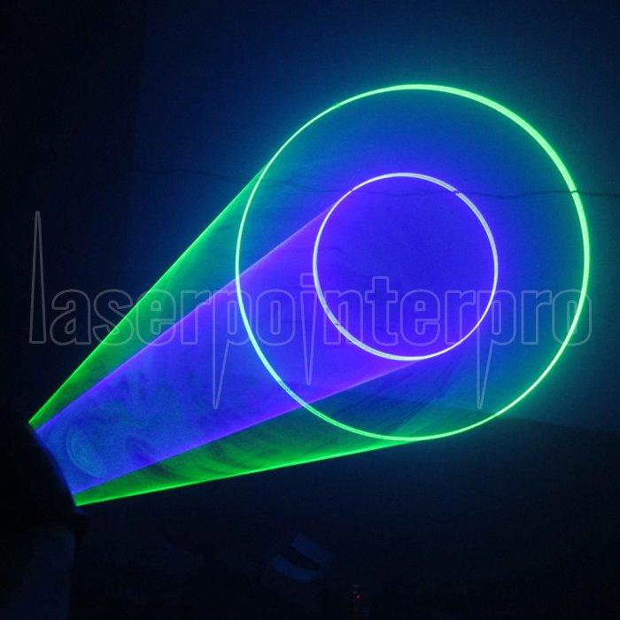 400mw 532nm 405nm Green Amp Purple Light Color Swirl Light