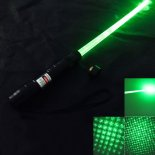 200mW 532nm Light Green Starry Sky Estilo Laser Pointer com Laser Sword (Black)>