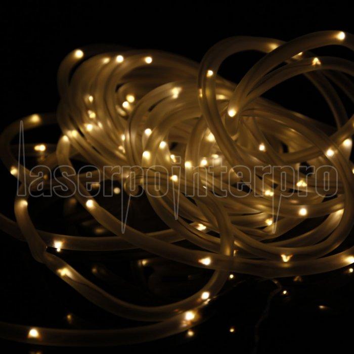 wasserdichtes 100led sonnenenergie warmes wei es led schnur licht. Black Bedroom Furniture Sets. Home Design Ideas