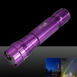 LT-501B 500mw 532nm Green Beam Light Dot Light Style Rechargeable Laser Pointer Pen with Charger Purple>