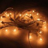 G40 25 Lâmpada LED ao ar livre Quintal Lamp Luz Corda com Branco Lâmpada Fio Transparente & Silver>                                                   </a>                                               </div>                                               <div class=