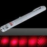 200 mW Middle Open Starry Pattern Luz roja Naked Laser Pointer Pen Plata