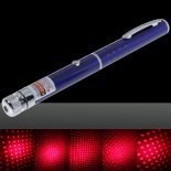 50mW Middle Open Starry Pattern Red Light Naked Laser Pointer Pen Blue