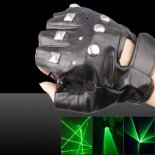 100mw 532nm Dual Green Light Color Swirl Light Style Rechargeable Laser Glove Black Free Size>