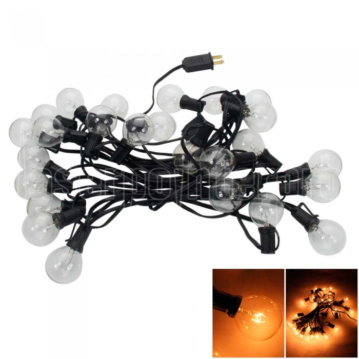 G40 25-LED Glühbirne Außen Yard Lampe String Light mit schwarzer ...