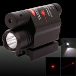 2-in-1 Professionelle 5mW 650nm Red Light Ein-Punkt-Art-Zoomable Laser-Zeiger-Schwarz>