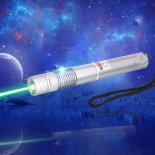 5000mW 532nm Green Laser Pointer Pen Silver Grey