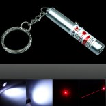 2 em 1 1mW 650nm Lanterna Estilo Red Laser Pointer (Dual Laser)>