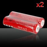 2*2Pcs UltraFire 18650 3.7V 3000mAH Rechargeable Batteries Red>
