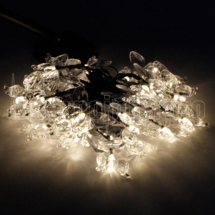 marswell 40 led gelbes licht schmetterling design solar weihnachten dekorative schnur licht. Black Bedroom Furniture Sets. Home Design Ideas