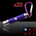 20Pcs 5Pcs 5 in 1 5mW 650nm Red Laser Pointer Pen Blue Surface (Five Change Design Lasers + LED Flashlight)>