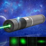 1000mW 532nm Green Beam Light Focusing Portable Laser Pointer Pen Black LT-HJG0086>