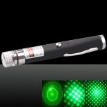 LT-LT-532 5-em-1 500mW Mini USB Green Light Laser Pointer Pen Preto