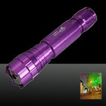 501B 500mW 650nm Red feixe de luz laser Pointer Pen Kit Roxo>