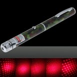200mW Médio Aberto estrelado Pattern Red Light Nu Laser Pointer Pen camuflagem colorida>