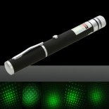5mW Professional Gypsophila Green Light Pattern Laser Pointer with Box & AAA Battery Black>