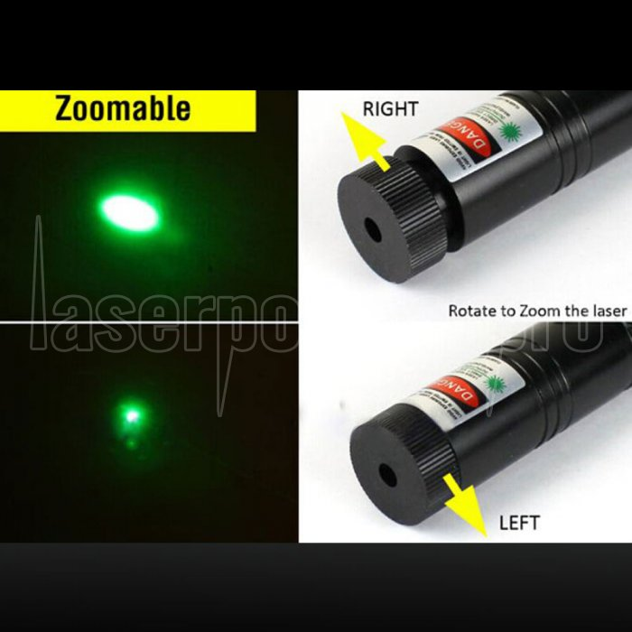 Trousse de pointeur laser haute puissance 301 500MW vert clair noir ...