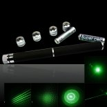 5 in 1 30mW 532nm Mittler-öffnen Kaleidoscopic Green Laser Pointer Pen