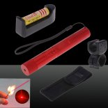 SHARP EAGLE Suit 2 500mW 650nm Starry Sky Style Red Light Waterproof Aluminum Alloy Laser Pointer Matchstick Cigarette Lighter R>