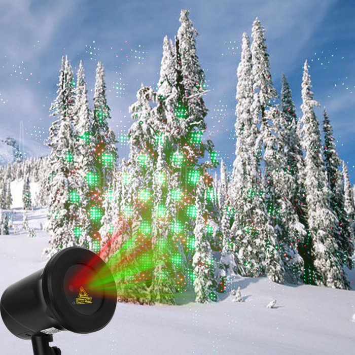 Kshioe rotate laser light led christmas decoration outdoor for Professional outdoor christmas decorations