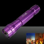 LT-501B 50mw 532nm Green Beam Light Dot Light Style Rechargeable Laser Pointer Pen with Charger Purple>
