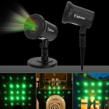 Kshioe Rotate Red et Four in One Green Laser Light LED Décoration de Noël Outdoor Landscape Lampe à gazon US Plug Red &amp; Gree>