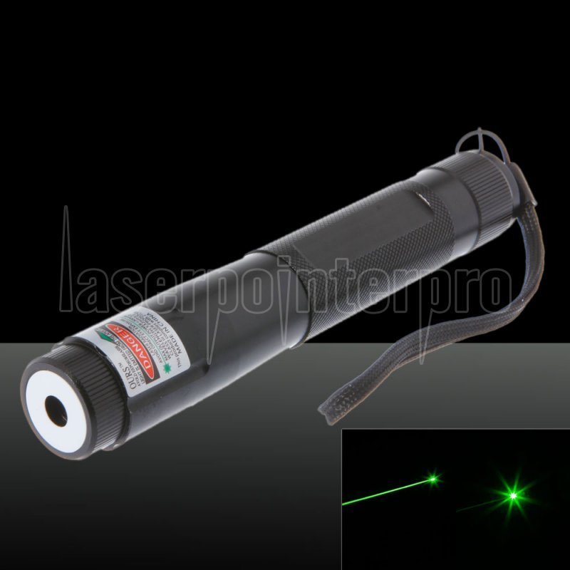 300mw 768 Click Style Open Back Green Laser Pointer With