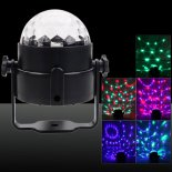 Upgraded 120-Degree Beam Angle Auto / Voice Control RGB Light LED Stage Lamp with Remote Controller Black>