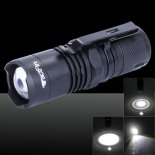 Tactfire 1 x LED 4-Mode Focusing Stretchable Flashlight with Luminous Display Black