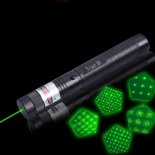 303 10000mW Professionale Green Laser Pointer Suit con 18650 Batteria e Caricatore Nero>