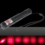 100mW Dot Pattern / Starry Padrão / Multi Patterns Foco Red Light Laser Pointer Pen prata>