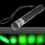 100mW Dot Pattern / Starry Pattern / Multi-Patterns Focus Green Light Laser Pointer Pen Silver>