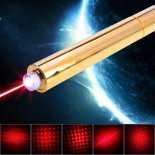 10000mW 650nm Beam Luz Rojo Superhigh Power Lápiz Puntero Lápiz Kit Oro>