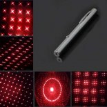 500mW 650nm New Steel Casing Kaleidoscope Starry Sky Style Red Light Waterproof Laser Pointer Silver>
