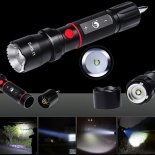 UKing ZQ-X984 XML-T6 5000LM 5 Modes Focusing Waterproof Portable Flashlight Black>