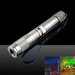 150MW Waterproof Red Laser Pointer Pen Silver