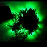 12M 100 LED Green Light Solar String Lamp Festival Decoration>