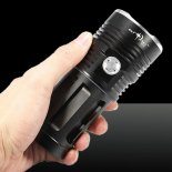 LT-SKYRAY KING XML-T6 6 * T6 8000LM Alliage d&#39;aluminium LED Flashlight Suit Noir>