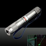 5MW 532nm Waterproof Green Laser Pointer Pen Silver>